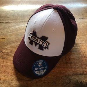 Mississippi State Bulldog memory fit baseball hat